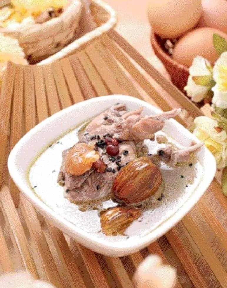 Black Sesame Red Bean Quail Soup Recipe
