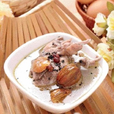 Black Sesame Red Bean Quail Soup Recipe