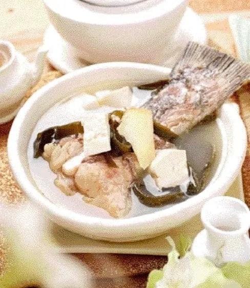 Tofu and Kelp Fish Tail Soup Recipe
