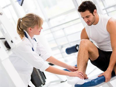 physiotherapists ankle injury treatment
