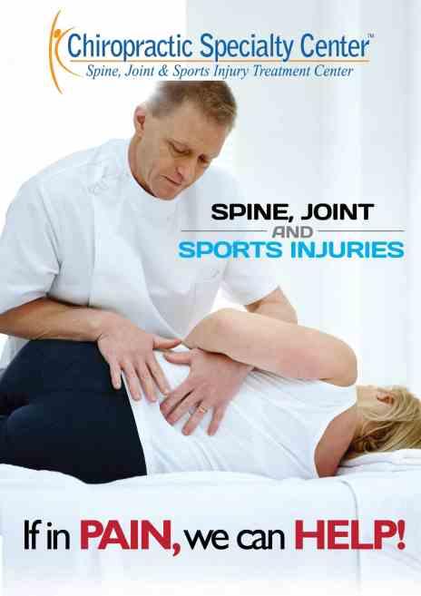 Gentle chiropractic treatment of a women
