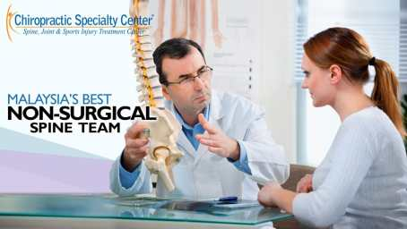 chiropractic consultation with female patient in Kuala Lumpur
