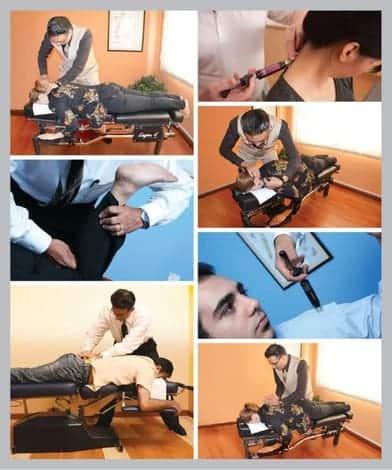 Dr Yama gicing chiropractic treatment in Kuala Lumpur