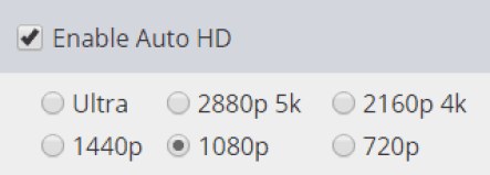 Auto HD/UHD Settings