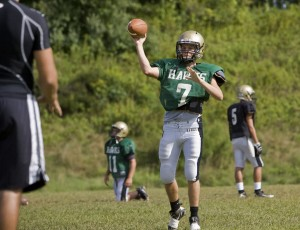 Hawks QB Steve Petracca has recovered from a broken collarbone and hopes to lead Woodland to a Copper Division title.
