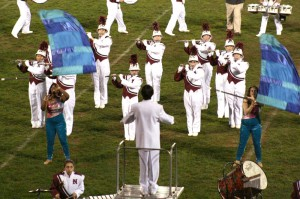 The Naugatuck High School marching band entertained Saturday night at Thunder in the Valley, NHS's annual band competition.