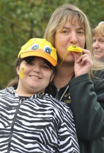 Laura Vitzoski, 10, and Tanya Gutierro, both of Beacon Falls, at the annual Beacon Falls RiverFest and Duck Race in Beacon Falls on Saturday.