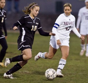 Woodland star Raven Palmerie accomplished an impressive feat last week: four goals in 10 minutes.