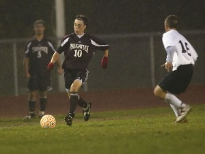 Former Naugy High standout Ryan Kinne, pictured as an NHS senior in 2006, is a semifinalist for the Hermann Trophy, the highest individual honor in college soccer.