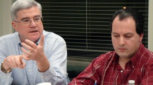 Finance Board member Dan Sheridan (left) and Second Deputy Mayor Mike Ciacciarella voted against bailing out the Board of Education, but the fund transfer passed, 16-3.