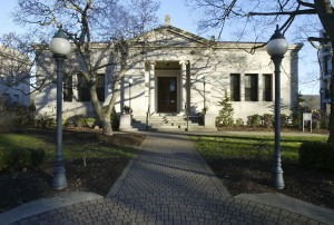 The library in Naugatuck was one of the many buildings aorund the green commissioned by J.H. Whittemore and designed by renowned architectural firm McKim, Mead and White/