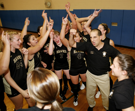 In a moment that captured both his success and his enthusiasm, Amato celebrated the 2009 NVL tourney title with his team.