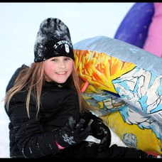 Summer Gallagher, 9, sleds at Fairchild Park after the snow storm Dec. 27.
