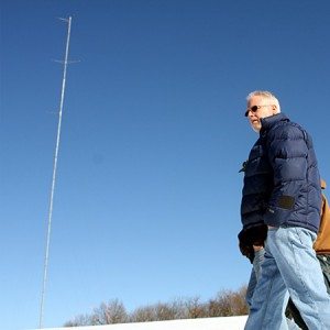 Tim Reilly, president of Save Prospect Corp., is asking Prospect to reimburse the group's legal expenses. If the town hadn't approved the meteorological tower, pictured above, it would never have opened the door for BNE to submit its petition to the Connecticut Siting Council, Reilly contended. File Photo