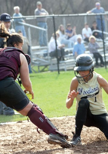 on Monday versus Naugatuck. The Hawks topped the 'Hounds 15-8.