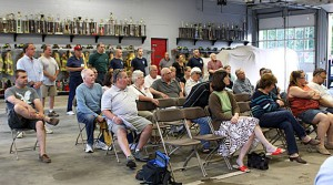 About 40 people gathered to hear a presentation about new paving equipment that could save Beacon Falls over $2 million.