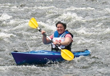 Nancy Wallenta paddles down the river during the 4th annual Naugatuck Valley River Race and Festival May 7. PHOTO BY ELIO GUGLIOTTI