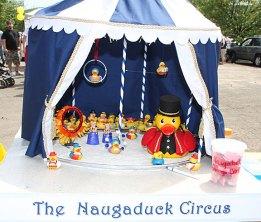 A diorama shows a Naugatuck duck circus at Naugatuck Duck Day June 5.