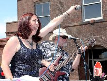 Singer Lee-Ann Lovelace with The Rubber City Blues Band performs at Naugatuck Duck Day June 5.Naugatuck Duck Day