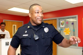 Officer Brian Coney recieved an award for his role in saving the life of Tim McDevitt.
