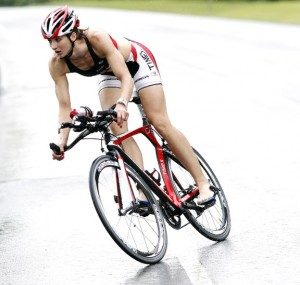 Dr. Cassie Maximenko of Naugatuck has won three straight Pat Griskus Olympic Distance Triathlon women's titles but won't compete this year due to an injury. –RA ARCHIVE
