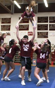 Naugatuck High School students performed skits, dances, and cheers at the pep rally Nov. 23 in preparation for the Thanksgiving football game vs. Ansonia the following day.
