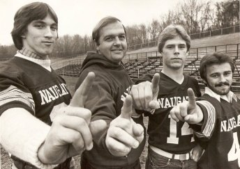Former Naugatuck head coach Craig Peters led the Greyhounds to an undefeated season in 1981, in which Naugy was named the No. 1 team in New England as well as NVL and state champions.