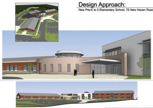 This conceptual design by Fletcher Thompson Architects of Shelton shows what the proposed new elementary school in Prospect could look like. -CONTRIBUTED