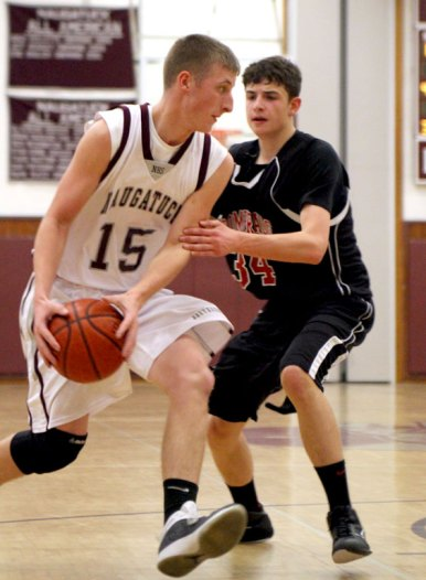 Naugatuck faced off against Pomperaug in an out of conference game Thursday night. Pomperaug defeated the Greyhounds 67-57. LARAINE WESCHLER