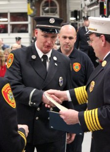 The Naugatuck Board of Fire Commissioners hosted its first ever recognition ceremony to honor members of the fire department Feb. 16. –ELIO GUGLIOTTI