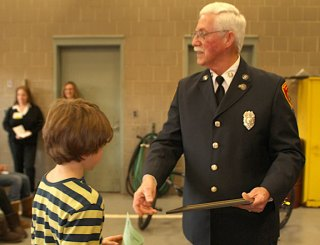 Trey Generali of Salem School won third place for fourth grade in the borough's fire prevention poster contest.