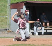 The Greyhounds played their home opener April 5 against Holy Cross. The Crusaders topped Naugatuck 10-8. –LUKE MARSHALL