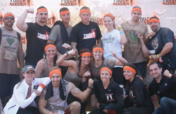 Two groups from Mike Romano's Maximum Results Boot Camp in Naugatuck completed the Tough Mudder, a 10-mile mud-run obstacle course, May 5 and May 6 at Mt. Snow in Vermont. –CONTRIBUTED