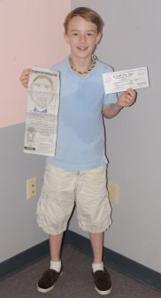 Jonathan Dyer Gray of Prospect won the Citizen's News' annual Draw Your Dad coloring contest in the 9 to 12 year old age group.