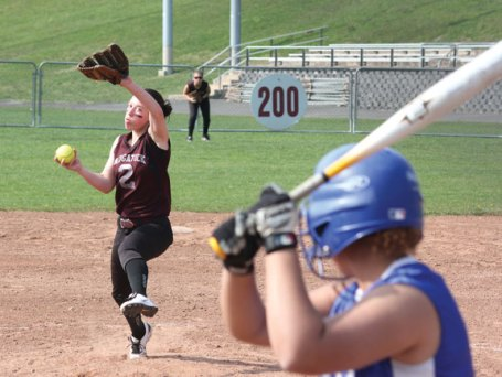 Over a three-game stretch, Alexa Marucci pitched back-to-back no-hitters followed by a one-hitter for the 'Hounds.-FILE PHOTO
