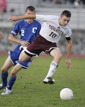 Nolan Kinne started for the Greyhounds in soccer, basketball, and baseball and helped all three squads to postseason berths. –RA ARCHIVE