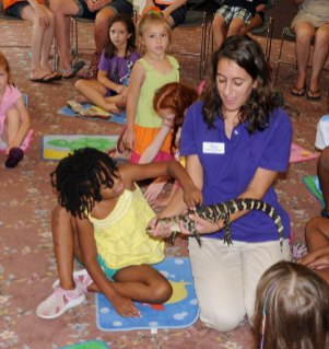 The Children's Museum out of West Hartford put on a wildlife exhibit at the Prospect Library July 27. –LUKE MARSHALL