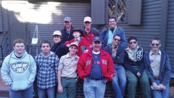 Boys Scouts from Troop 109 in Naugatuck pose for a picture in front of Paul Revere's house Oct. 13. The scouts spent the day hiking the Freedom Trail in Boston. As part of their American Heritage themed scouting month, the scouts explored sites in Boston that have tremendous significance in the birth of the nation including the Boston commons and the site of the Boston Massacre. For more information, visit www.troop109.net. –CONTRIBUTED