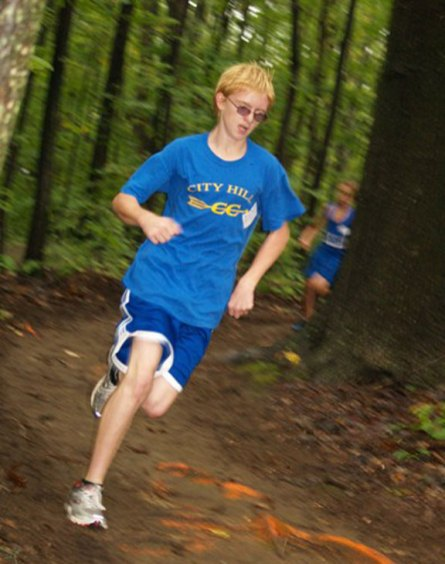 Graden Beasley, an eighth-grader at City Hill Middle School in Naugatuck, has won every middle school cross country meet he has entered so far this season. Beasly won four in a row, including the McGee Middle School Cross-Country Invitational on Sept 29. Beasly is now focused on the state championships next month.-CONTRIBUTED