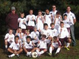 The Naugatuck Knights, a Naugatuck Youth Soccer U13 boys team, finished first and went undefeated in the Paul R. Cody Columbus Day Tournament in Windsor earlier this month. Pictured, first row from left, Daniel Pinho, Pedro Desouza, Shaun Walsh, and Joe Disanto. Second row from left, Matty Carroll, Jared McNeil, Marco Rebelo, Griffin Puc, Sam Rego, Greg Pelletier, and Zach Powanda. Third row from left, assistant coach Ed Walsh, PJ Marquardt, Michael Kowalasky, Zach Alves, Danilo Assis, coach John Alves, William Pereira, Victor Cardoso, and assistant coach Alan McNeil. -CONTRIBUTED