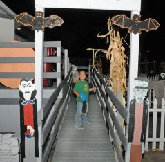 Tyler Galarza, 9, of Naugatuck, gets ready to enter the haunted house at the Naugatuck Parks and Recreation Department's Halloween Village Oct. 25. –LUKE MARSHALL