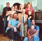 Four generations of Don Minton's family came together Oct. 14. Pictured, on the floor, Chris Tobey with his daughter Ryann. Middle row, from left, Kevin Letsch, Minton, and Olivea. Standing, from left, Bruce Letsch, Shannon Fetcho with her daughter Cadence Elizabeth, Amy Tobin, Marlene Fetcho, Henry Fetcho, and Beth Letsch. -CONTRIBUTED