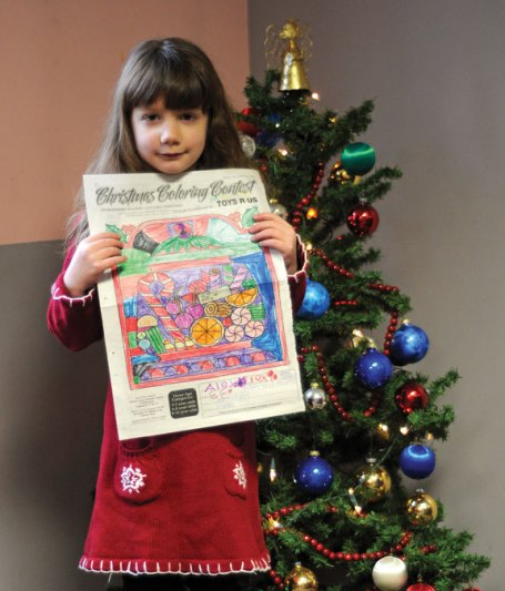 Alexa Sweeney, of Prospect, won the Citizen's News Christmas coloring contest in the 3- to 5-year-old age group.-LUKE MARSHALL