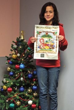 Jess Dooley, of Naugatuck, won the Citizen's News Christmas coloring contest in the 9- to 12-year-old age group.-LUKE MARSHALL