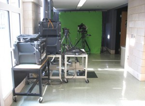 Woodland High School's digital media class currently uses part of a hallway as a studio. –KIMBERLY WILSON