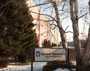 The General DataComm building in downtown Naugatuck. –RA ARCHIVE