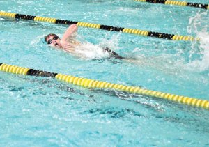 Woodland's Aidan Music and the Hawks are in the stretch run of the season as they prepare for the upcoming Naugatuck Valley League swim meet. –FILE PHOTO