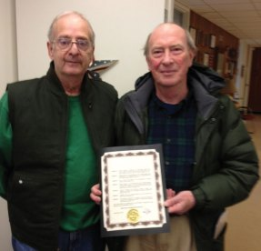 Naugatuck residents Pat Sasso and Brian Denyer, sufferers of Multiple Myeloma, recently received a proclamation from Mayor Robert Mezzo proclaiming March as Myeloma Awareness Month in Naugatuck. -CONTRIBUTED