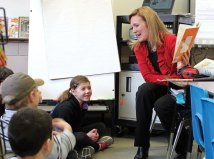 Local schools celebrated Read Across America March 1 in honor of Dr. Seuss' birthday, which was March 2, with guest readers, dressing up and reading their favorite books. State Rep. Lezlye Zupkus (R-89) reads, 'I Am Not Going To Get Up Today!' by Dr. Seuss to third-graders in Marcia Beltrami's class at Algonquin School in Prospect. –ELIO GUGLIOTTI