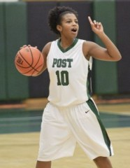 Former Naugatuck High star Jess Webber, a junior guard at Post University, was second on the team in 3-point shooting (36.8 percent) and her 1.4 apg were also second-most on the squad. –RA ARCHIVE